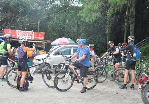 Nepal Mountain Bike Tours Down Hill